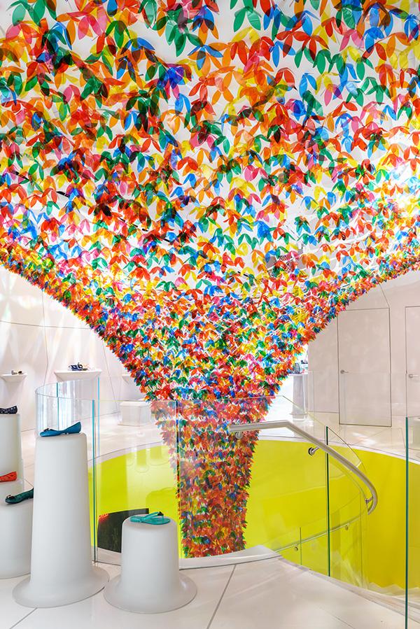 flower art installation