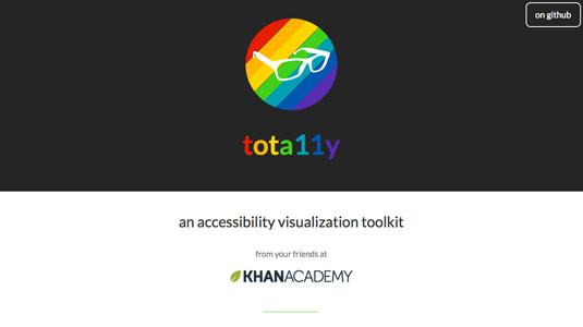 JavaScript examples: tota11y