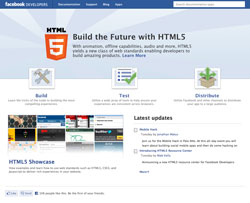 Facebook wants more devs to embrace HTML5