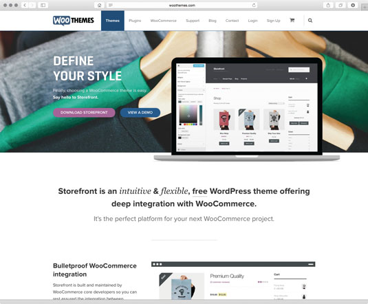 Storefront is the official theme for WooCommerce. The core theme is lightweight and extensible, offering various presentation options