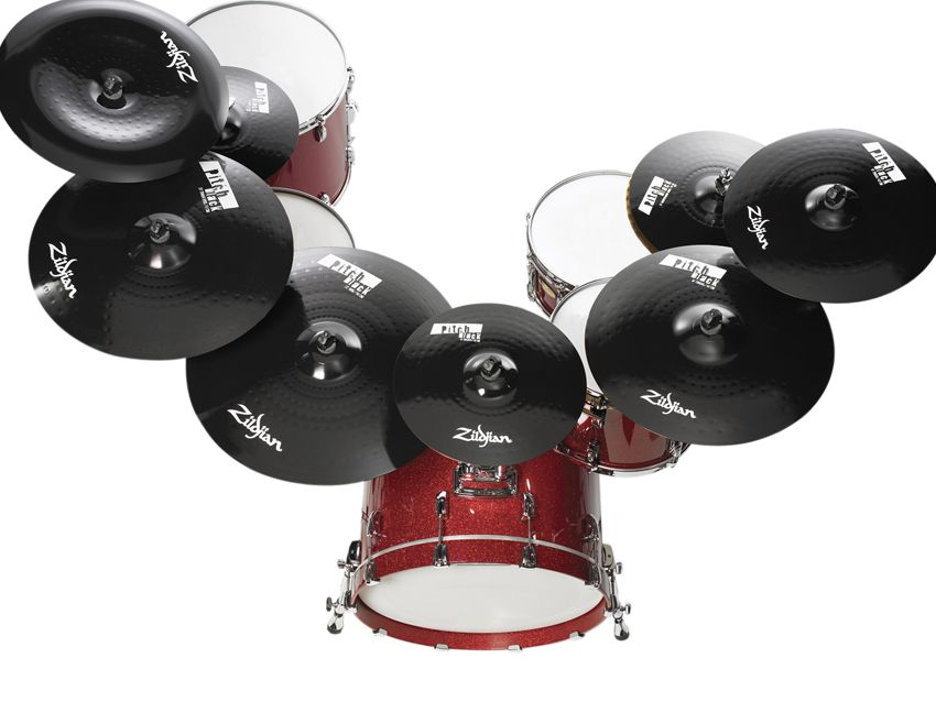 zildjian paints it black with pitch black cymbals musicradar. Black Bedroom Furniture Sets. Home Design Ideas