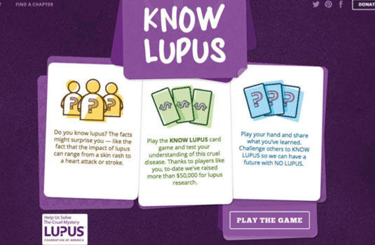 JavaScript examples: Know Lupus