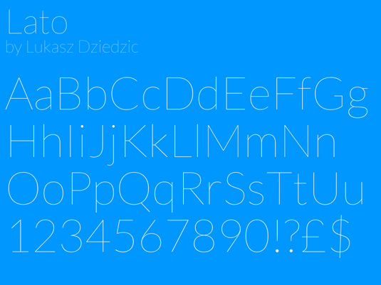 Google Fonts: Lato