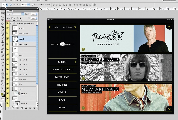 Design an iPad app UI in Photoshop: step 15