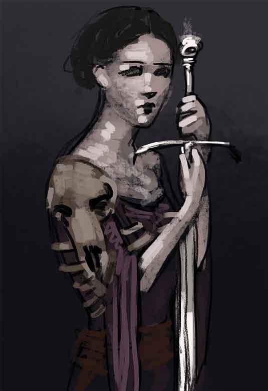 Skull armour sketch