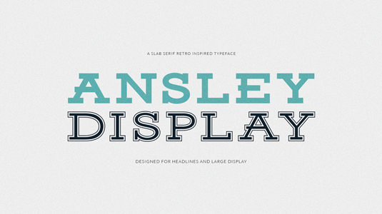 Free retro fonts; Ansley