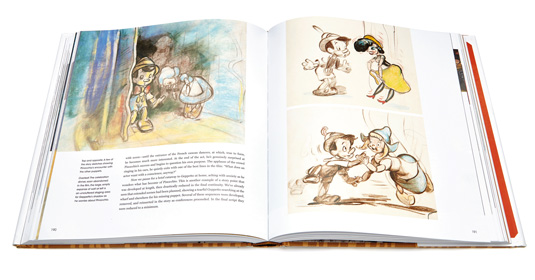 pinocchio making of art book spread