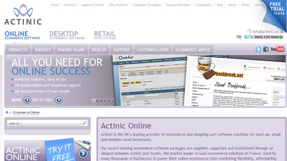 Actinic e-commerce