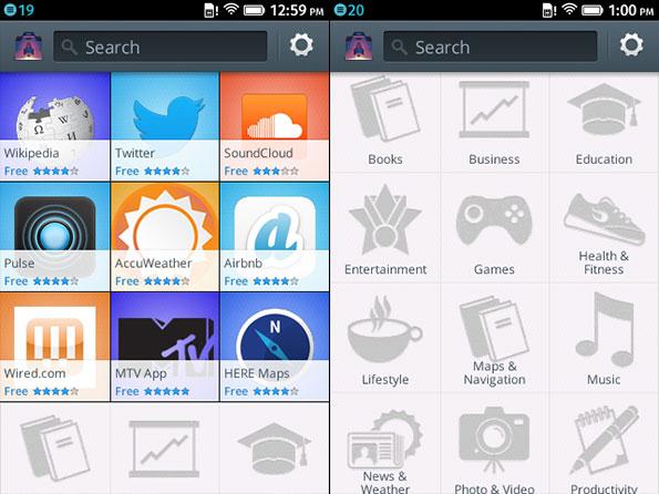 Firefox OS Marketplace app