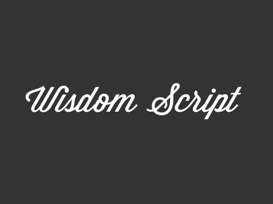Free cursive fonts: Wisdom Script