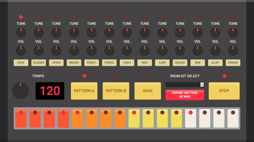 html 5 drum machine offers beats in your browser musicradar. Black Bedroom Furniture Sets. Home Design Ideas