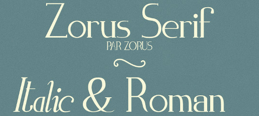 Free retro fonts: Zorus Serif