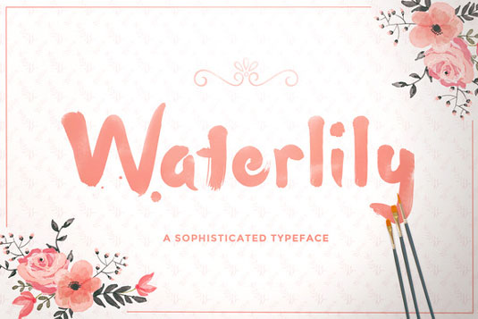 Free font: Waterlily