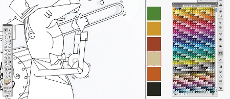 trace colour palette