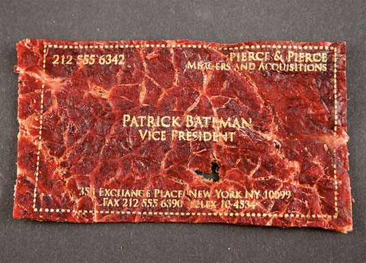 meat business cards