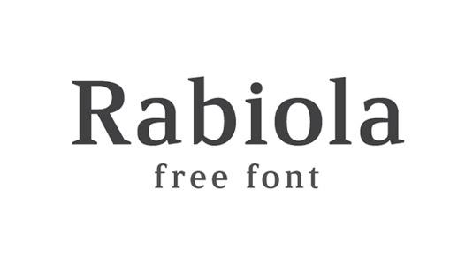 Free fonts: Rabiola