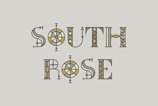 Free fonts: South Rose