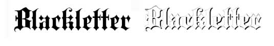 Tattoo fonts: Blackletter