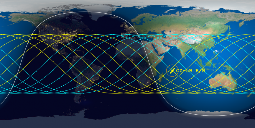A huge Chinese rocket will fall to Earth this weekend. Here's how to track it online.