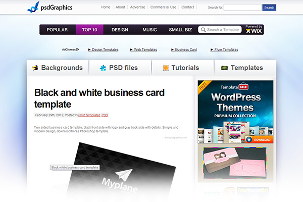Free print design templates psdGraphics