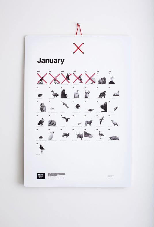Almost Extinct Calendar January