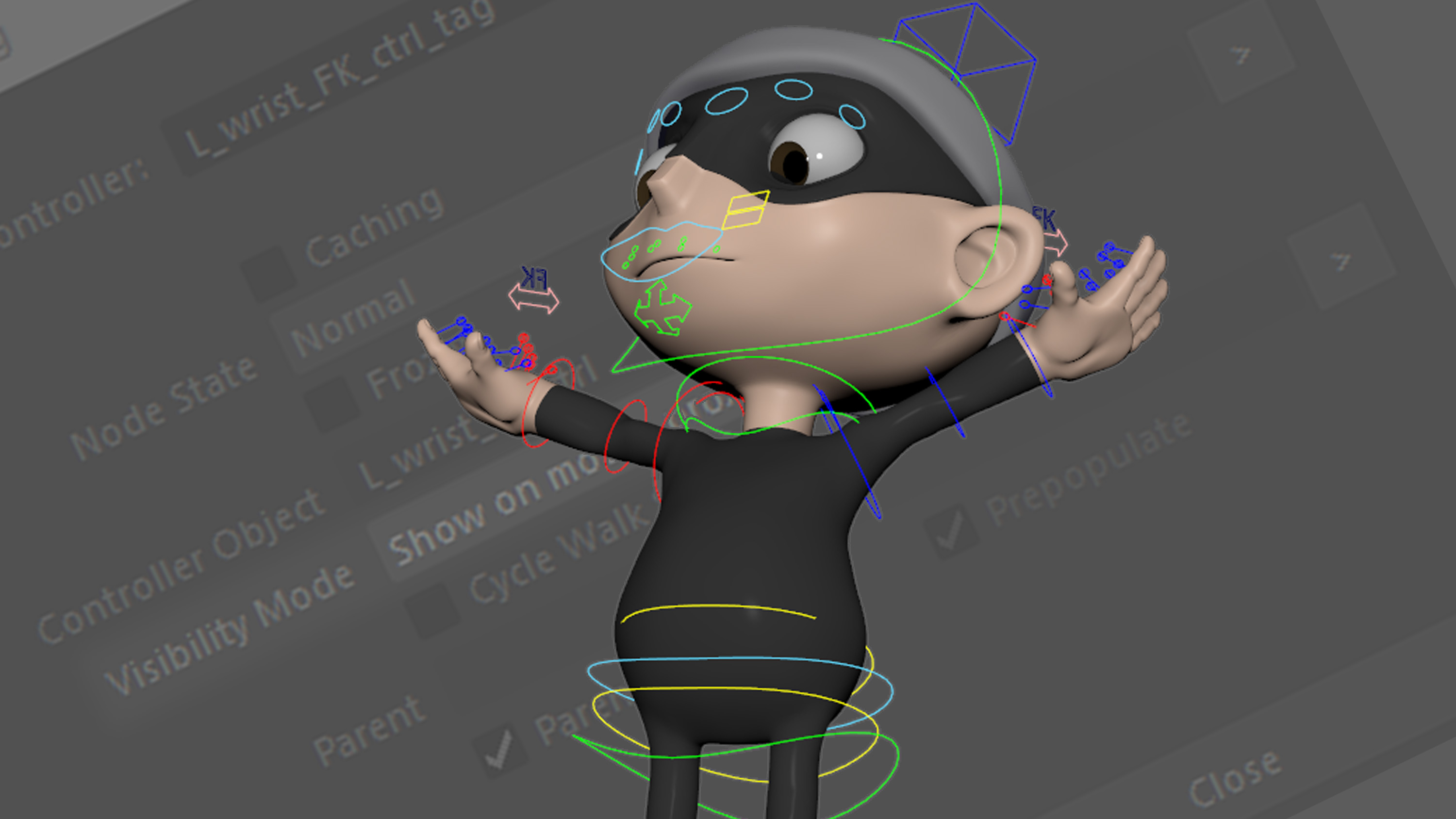 Create custom rig controls in Maya