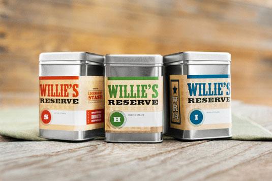 Cannabis branding: Willie's Reserve