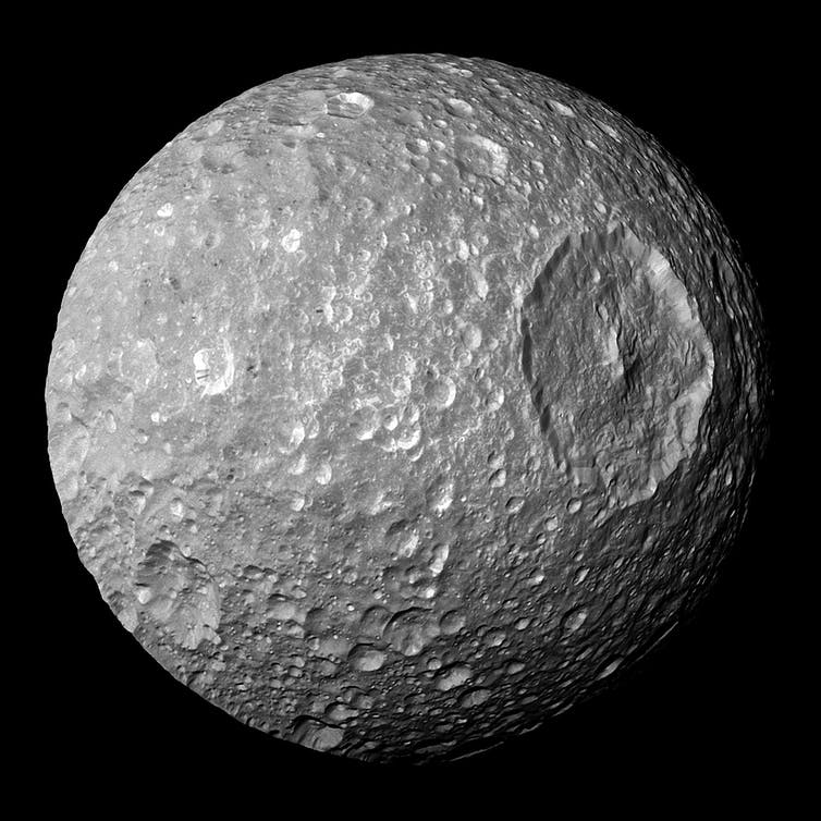 On This Day in Space! Sept. 17, 1789: Saturn's 'Death Star' moon Mimas discovered