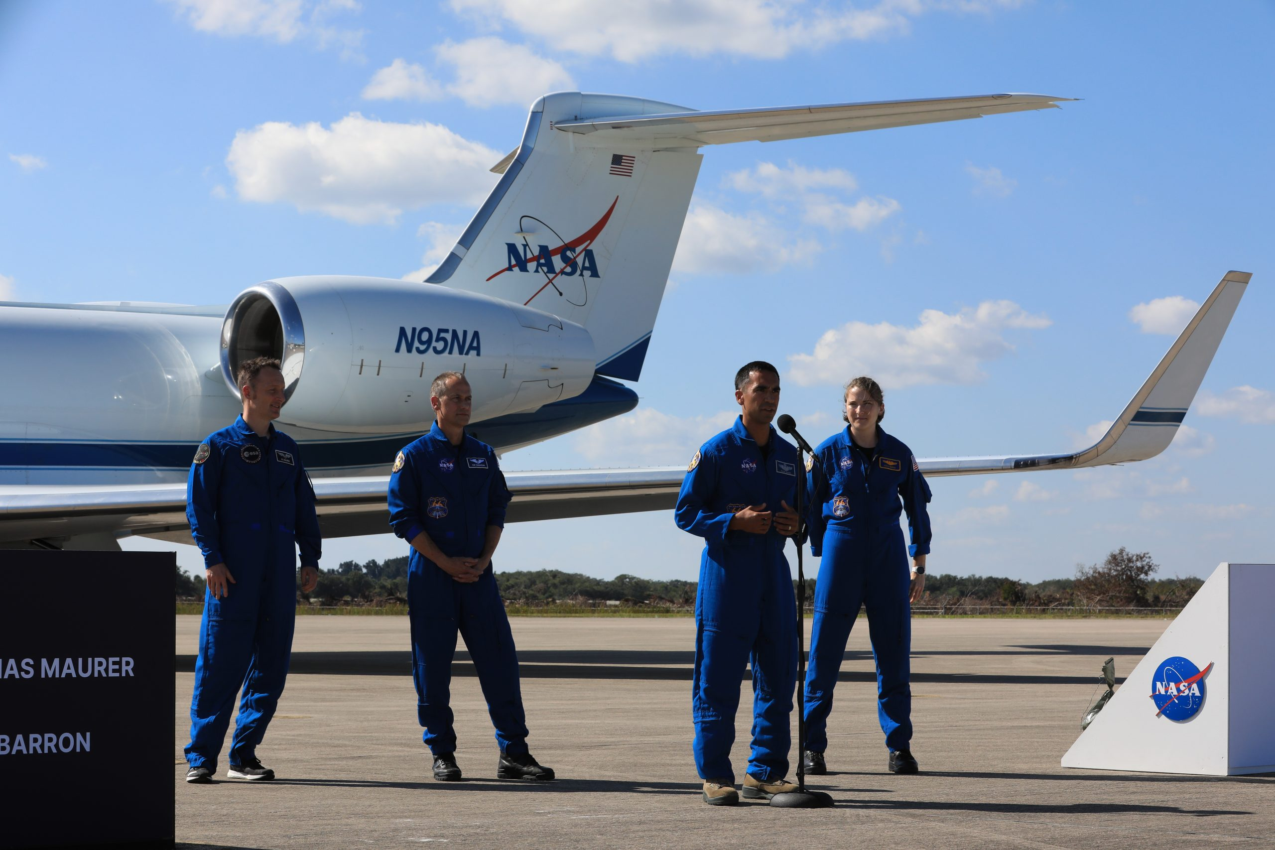 Crew-3 astronauts arrive in Florida ahead of SpaceX's planned Halloween launch