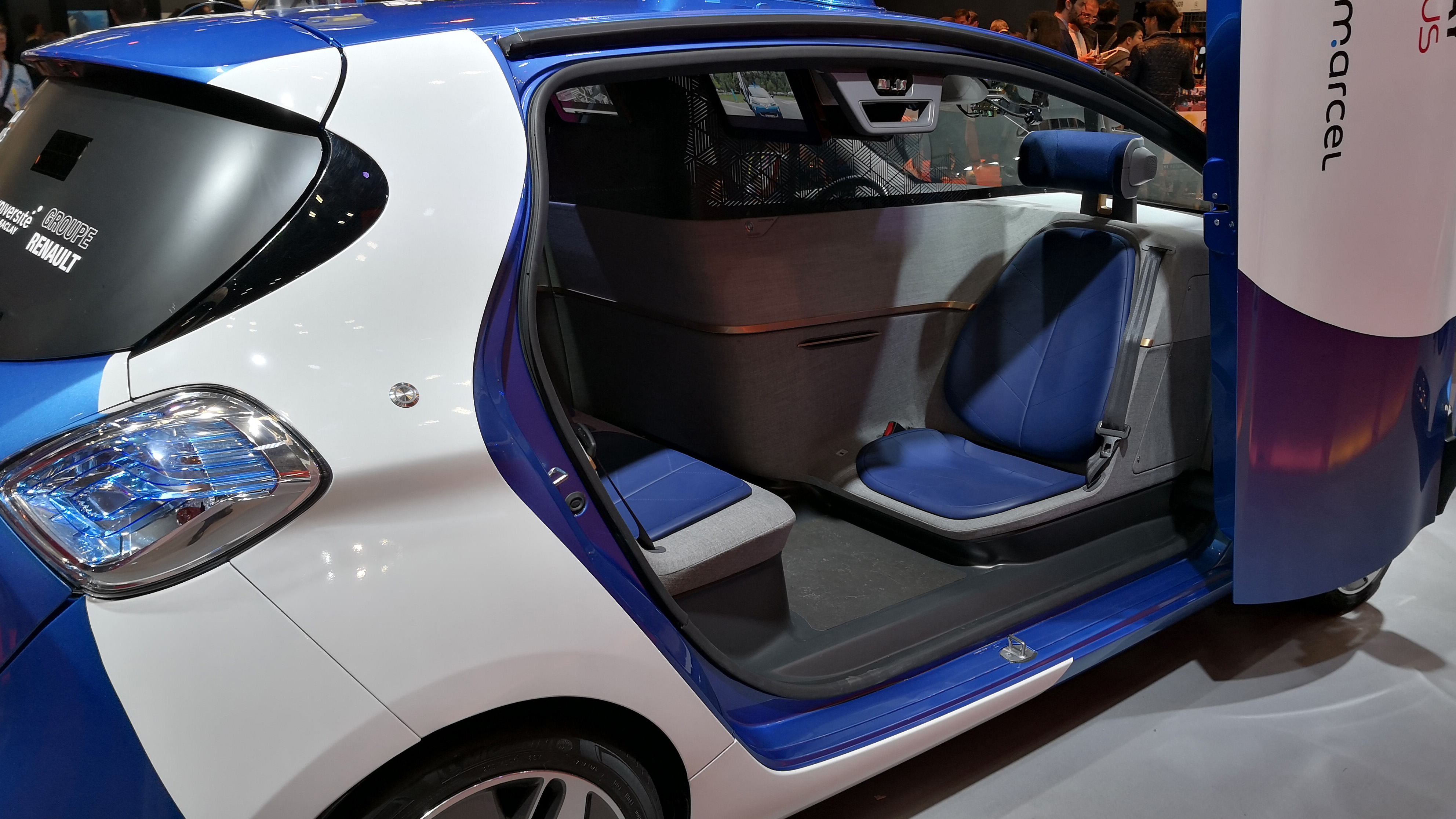Autonomous Renault Zoe interior