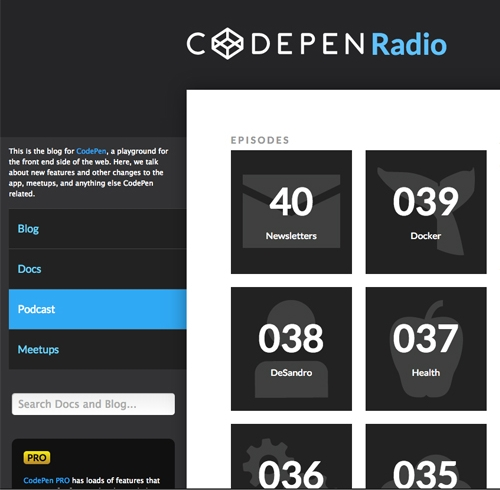 Web design podcasts: CodePen Radio