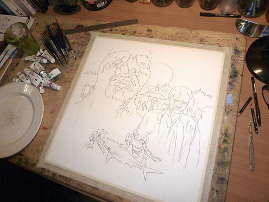 Evil Dead poster artist takes on Zombie Flesh Eaters