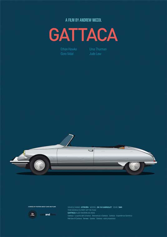 how to design a poster: Gattaca