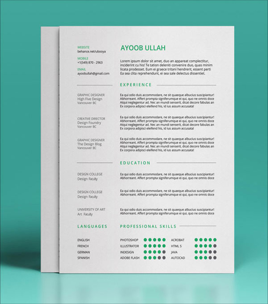 resume templates  creative bloq resume and cv templates