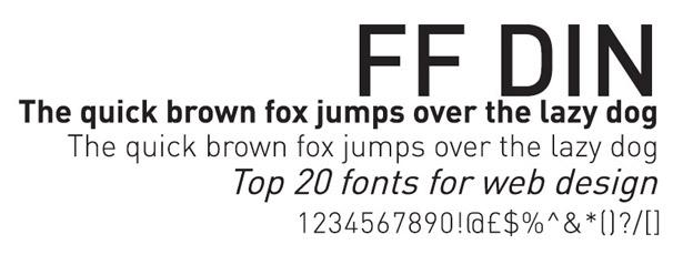 Web fonts: FF Din