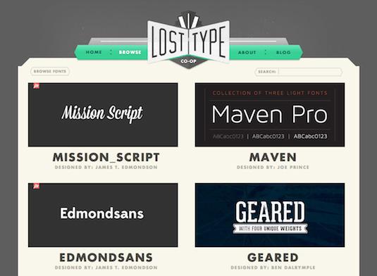 Download fonts: LostType