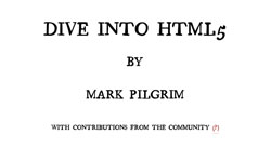 HTML5 Doctor aims to update Mark Pilgrim's text
