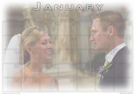 Free Photoshop Script: Create a Calendar