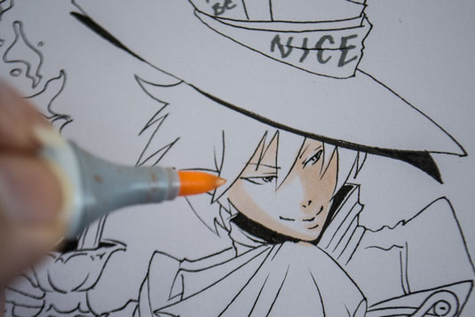 How to draw manga - colouring manga skin