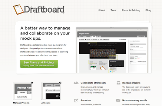 Online collaboration tools: Draftboard