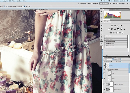 Retouch images with frequency separation: step 16