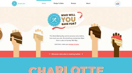 A clear typographical hierarchy: the World Baking Day site
