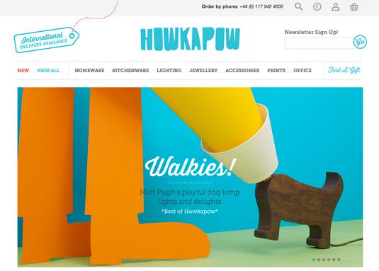 Howkapow website design