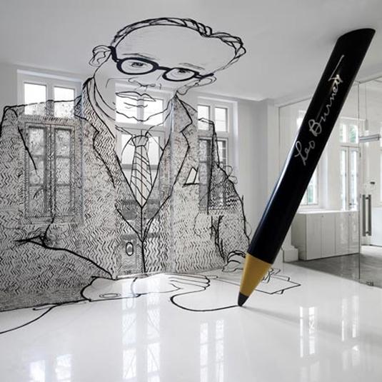 design office wall murals