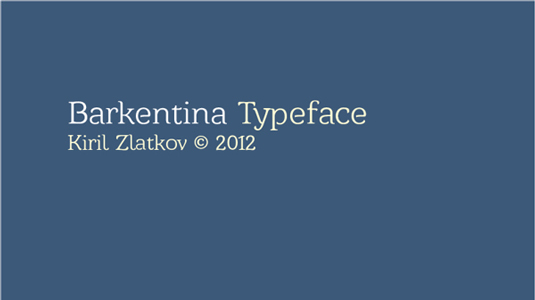 Free font: Barkentina