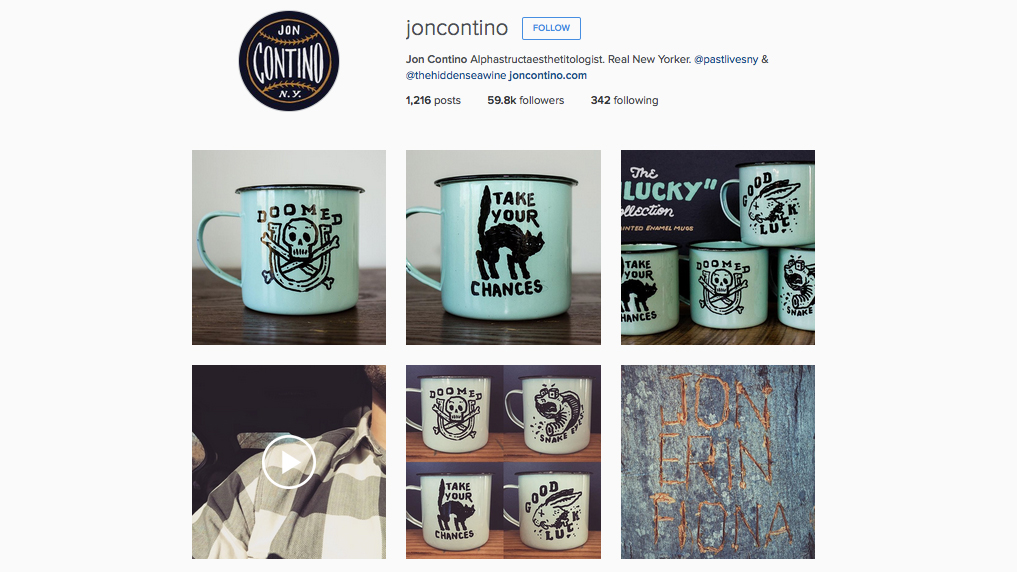 Graphic designers to follow on Instagram: Jon Contino