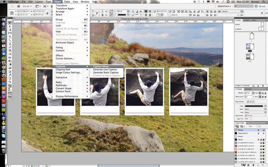 Use live captions in InDesign