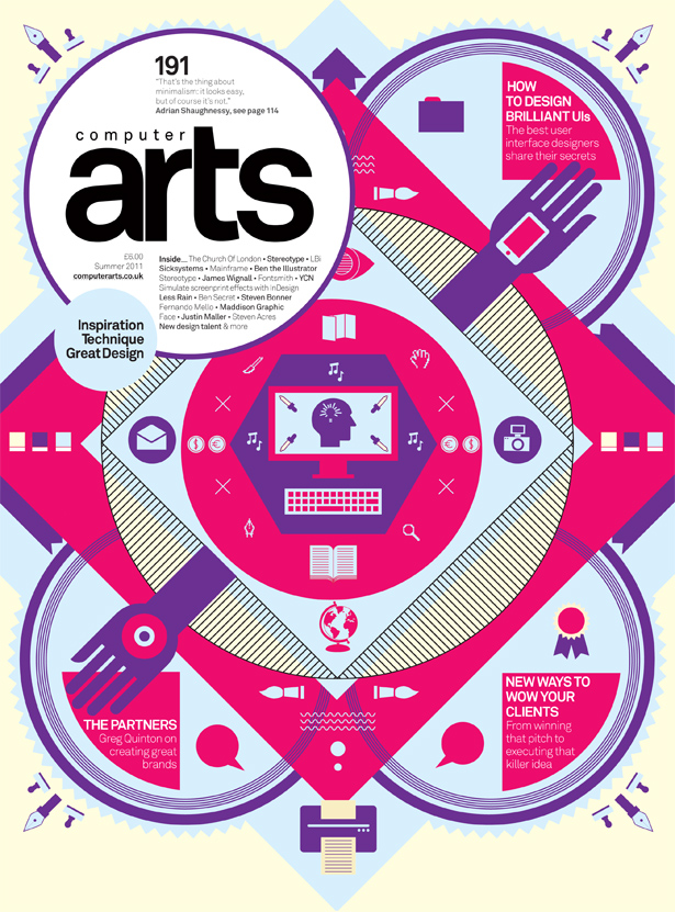Jessica Walsh's striking cover for issue 191 of Computer Arts.