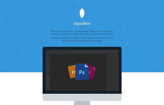 Examples of flat design: Squidee