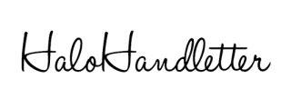 Fuentes manuscritas libres Halo handletter